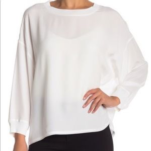 Vince NWT Rib neck blouse